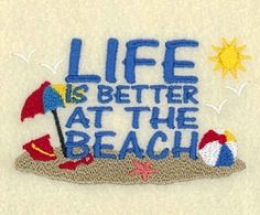 Life Is Better At The Beach - 4x4   What's New   Machine Embroidery Designs   SWAKembroidery.com Starbird Stock Designs