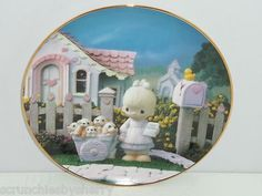 Precious Moments Plate A Cheerful Giver Hamilton Classic Collection
