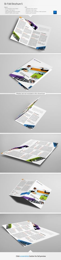 Corporate brochure template | via www.behance.net/gallery/Bi-Fold-Brochure-5/11011907