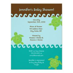 Honu Waves Baby Shower - 4.25 x 5.5 Announcements