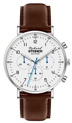 Richard Steiner Generation One Watch Brands, Leather, Accessories, Fashion, Designer Clocks, Pointers, Leather Cord, New Looks, Moda