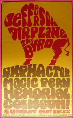 Jefferson Airplane/Byrds show at Portland Memorial Coliseum from May 28, 1967