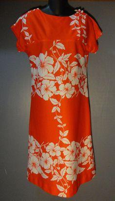 528182c1aa53 70s Vintage HILO HATTIE'S Floral Print Hawaiian A-Line Maxi Muu Muu Dress S  or M #HiloHatiesHawaii #MaxiMuuMuu #Casual