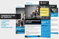 Check out Corporate Flyer / Ad Template 01 by WonderShop on Creative Market