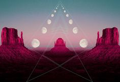 moon phases / Sacred Geometry <3