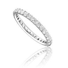 Full Set 2mm Round Diamond Wedding Ring DHD021 Image