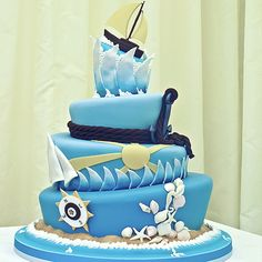 Sailing Boat Wedding Cake