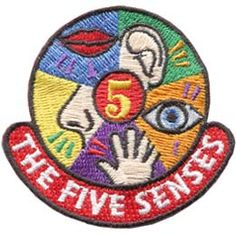 The Five Senses (Iron On) Embroidered Patch by E-Patches & Crests Cool Patches, Pin And Patches, Iron On Patches, Crochet Stitch, Knit Crochet, Girl Scout Fun Patches, Girl Scouts Usa, Denim Decor, Girl Scout Badges