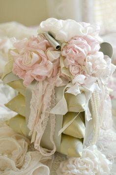 Gorgeous Vintage 3 Pillow Sachet with Ribbon by Jenneliserose: