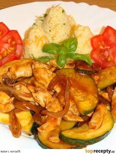 Kuracie sote s cuketou Kung Pao Chicken, Zucchini, Vegetables, Ethnic Recipes, Vegetable Recipes, Veggies