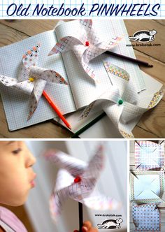 Old Notebook PINWHEELS