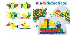 #Juego de pinchos y #mosaicos. ¿Que beneficios tiene para los #niños? Ayuda al mejor desarrollo de la #psicomotricidad fina
