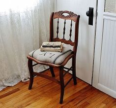 from broken caned chair to grain sack beauty, painted furniture