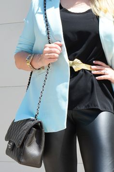 Fashion | Chic in Black & Baby Blue | The MIAMI Rose #OOTD featuring Forever 21 | Prada | Chanel | Nordstrom | Chloe | Rolex |