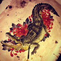 40 Ideas For Art Drawings Ideas Artists Awesome Kunst Tattoos, Body Art Tattoos, Sleeve Tattoos, Cool Tattoos, Tatoos, Alligator Tattoo, Krokodil Tattoo, Crocodile Illustration, Tattoo Grafik