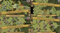 El contexto de este juego es maravilloso y muy evocador. Se basa en la guerra de secesión de EE.UU. y sus feroces batallas de 1864.