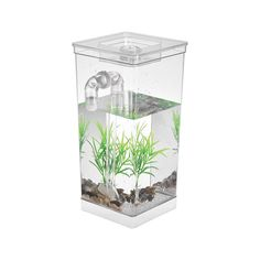 Self Cleaning Small Fish Tank Bowl Convenient Acrylic Desk Aquarium for Office Home Creative Gifts for Children Sales Online - Tomtop