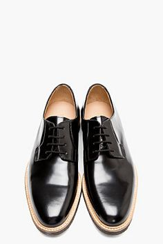 COMMON PROJECTS Black Patent Leather Derby Creepers