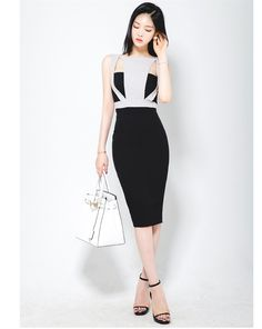 2bf8a8b6e5a9 2016 Summer Korean Style New Sexy Work Dress Women Elegant Hollow Out  Bodycon High Waist Dresses Vestidos Slim Office Wear-inDresses from Women's  Clothing ...