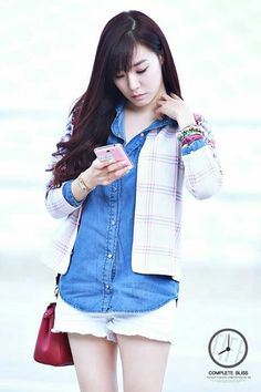 Tiffany Snsd fashion airport at Incheon headed to jakarta