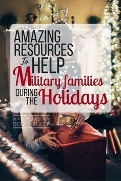 This big list of programs and resources are set up to help military families during the holidays, plus some holiday budgeting tips for your military family. Military Deployment, Military Girlfriend, Military Love, Military Spouse, Military Retirement, Army Mom, Army Family, Military Families, Family Life