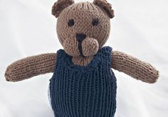 Teddies with Dress and Pants, a childrens toy made with Schachenmayr yarn