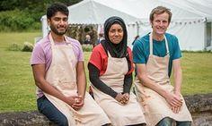 Bake Off 2015 finalists Tamal, Nadiya and Ian.