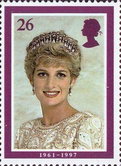 Diana, Princess of Wales Commemoration Stamp Wearing Tiara, 1991 (photo by Lord Snowdon). Princess Diana Photos, Princess Diana Family, Princess Of Wales, Lady Diana, Uk Stamps, Postage Stamp Art, Charles And Diana, Commemorative Stamps, Vintage Stamps