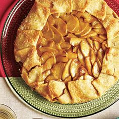 Purchased piecrust dough is a convenient time-saver. We like the flavor combo of sweet Golden Delicious and tart Granny Smith apples, but you can use any apple (or combination of apples) you like. If you'd like to keep strictly kosher when making this dessert for our Hanukkah menu, use walnut oil in place of butter, and look for pie dough made with shortening (and containing no lard).
