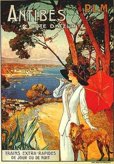 Antibes (1910)      (http://www.vintageadbrowser.com/travel-ads-1910s)
