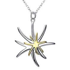 New silver necklaces & pendants Separations Starfish collier plastron Personalized Starfish Necklace, Silver Pendant Necklace, Silver Necklaces, Diy Necklace, Fashion Necklace, Fashion Jewelry, Women Jewelry, Bijoux Diy, Star Pendant