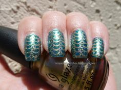 Lacquer or Leave Her!: NOTD: MSMD Gilded Mermaid nails