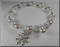 Swarovski Pearl Bracelet Pearl & Charm Bracelet by KKJJewelry4You, $9.99  another version - this one on memory wire, no clasp to fuss with!