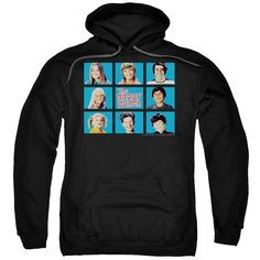 BRADY BUNCH/FRAMED-ADULT PULL-OVER HOODIE-BLACK