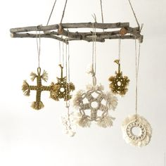 Xmas macrame ornaments by TEX MB