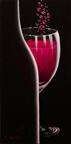 """RSVP Requested"" is a romantic, sensual invitation to celebrate.  Originals & prints of #sensual #romantic #wine art at http://sandi-whetzel.artistwebsites.com/"