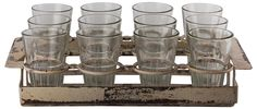 Vintage Shot Glass and Caddy | Posh Couture