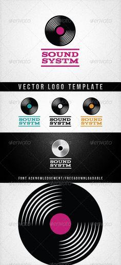 SOUNDSYSTM  #GraphicRiver         SOUNDSYSTM    Vector logo template   Ai & Eps file   3000×3000px   300dpi   CMYK    Print read