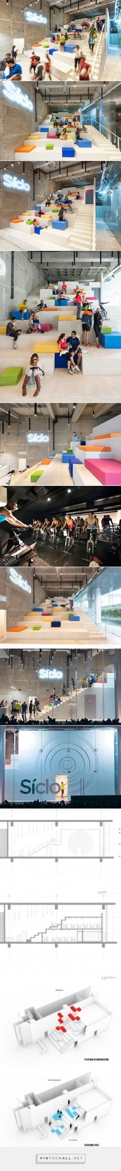 rojkind arquitectos + cadena y asociados reflects síclo's cycle concept with stepped interior - created via http://pinthemall.net
