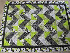 Finely Finished Quilts: Karen's Chevron Quilts