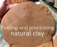 Harvesting Your Own Clay, Dirty But Delightful! is part of Natural Clay crafts - One of the many wonderful things about nature is that it provides so many wonderful opportunities to create with what is available to us Sand becomes glass, tree Homemade Clay, Diy Clay, Clay Crafts, Home Crafts, Ceramic Shop, Ceramic Clay, Ceramic Pottery, How To Make Clay, Make Your Own Clay