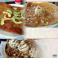 Four Frogs Creperie French Crepes, Roasted Almonds, I Foods, Breakfast, Toasted Almonds, Breakfast Cafe