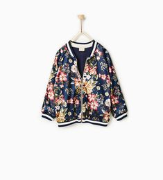 Floral bomber jacket-Jackets and waistcoats-OUTERWEAR-Girl-Kids | 4-14 years-KIDS | ZARA United States