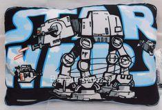 Disney Parks Star Wars Cartoon At-At Throw Pillow New #Disney