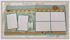 New 6-Page Scrapbooking Kits: Blossom Paper Collection -$20 #scrapbooking #blossom #scrapbookkits www.scrapbookworkshopkits.com