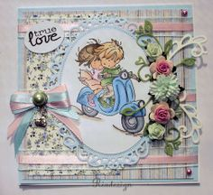 love Penny Black, Lily Of The Valley, Copics, Baby Cards, Paper Crafting, Stamps, Projects To Try, Card Making, Inspire