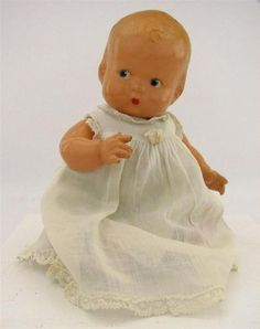"Vintage 1930s Madame Alexander Composition Bent Leg Baby Doll 10"""