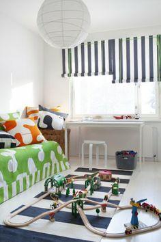 Fabrics in this picture  Eero Aarnio's Stripe-, Pony- ja Dino- cotton