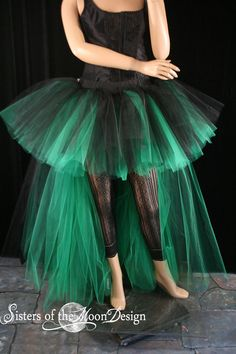 BURLESQUE BUSTLE TUTU SKIRT 80/'S FANCY DRESS HEN PARTY STEAM PUNK APRON BUSSLE