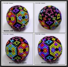 I thought this was hand embroidery or needlepoint or cross stitch, but when I enlarged it I saw it was beading! I think I have some beads I can try this with. They are beautiful!
